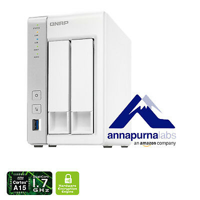 QNAP TS-231P with 2 Bay Diskless NAS AL-212 DUAL CORE - 1GB RAM