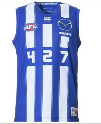 Brent Harvey North Melbourne 427 Guernsey, BNWT