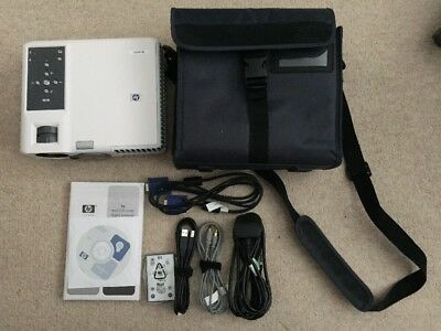 HP MP3222 DLP Projector with Remote and Original HP Case, VGA and sealed Manual