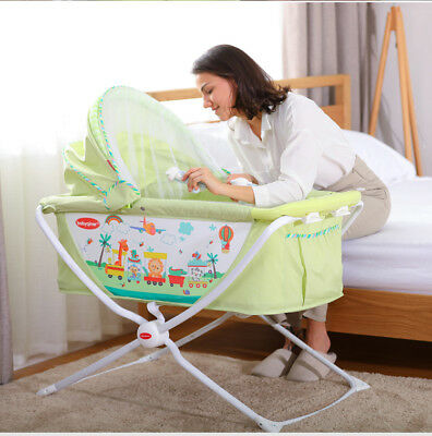 New All in 1 Deluxe Baby Portable Travel Cot Portacot Playpen Crib Bed Bassinet