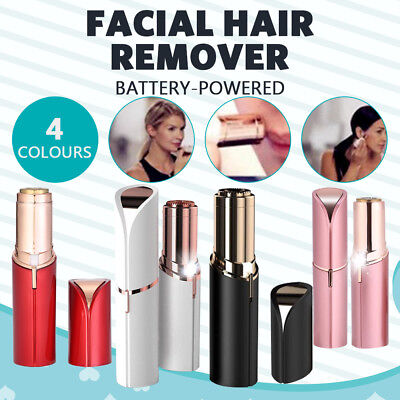 Flawless Facial Hair Remover Finishing Painless Removal Women Face Battery Power