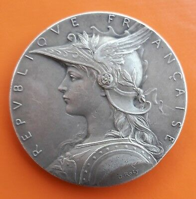 Copper Silvered French Medal By Roty, Marianne