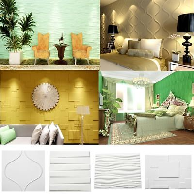 3D Effect Geometric Bamboo Wall Wallpaper Panel Ceiling Tiles Cladding 12 Types