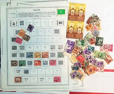 EGYPT Stamps on Minkus Supreme Global Pages + Packets