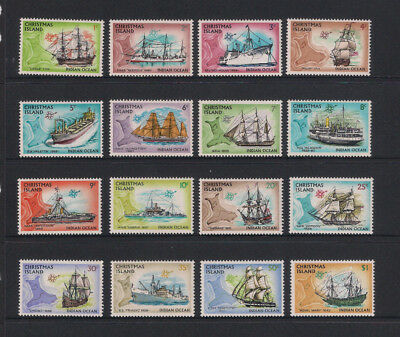 Christmas Island 1972/73 Ships / Boats Complete Set 16 - Mint Unhinged Superb