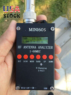 MINI60S SARK100 1-60Mhz HF Antenna Analyzer Android Bluetooth for PC Upgraded US