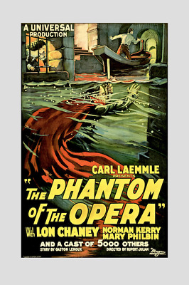 THE PHANTOM OF THE OPERA ( Lon Chaney ) ; quality print !