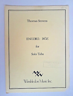 Thomas Stevens: Encore: Boz for Solo Tuba (Sheet Music)
