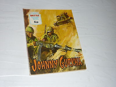 Battle Picture Library Comic Magazine No543 Johnny Gurkha India WW2 Tank WWII