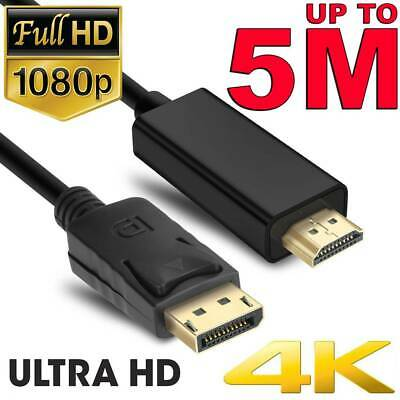 Displayport DP to HDMI Cable Male to Male Full HD 1080P High Speed Display Port