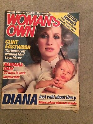 Vintage 1984 Woman's Own Lady Diana & Prince Harry