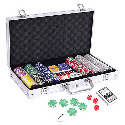 Pokerkoffer Pokerset 300 xLaser Chips Laser Pokerchips Poker Set Jetons