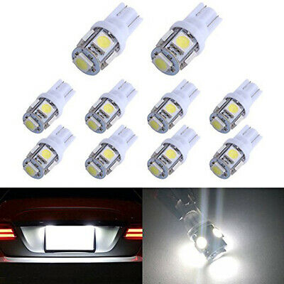 1~20x T10 5050 W5W 5 SMD LED Bright White Car Side Wedge Tail Light Lamp Bulb --