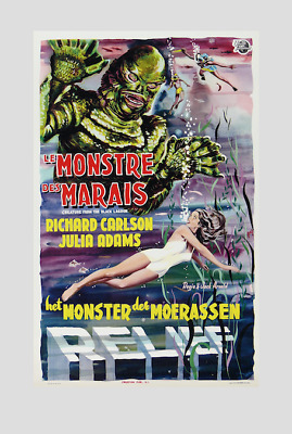 Creature Of The Black Lagoon !! 1954 ( French and Dutch ) ; quality print !