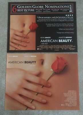 American Beauty 1999 2x DIFFERENT Small Quad Cinema Posters