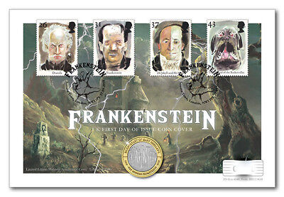 £2 Frankenstein UK Coin and Stamp Cover Edition limit 1000