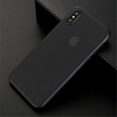 0.3mm Black Slim Matte PP Ultra-Thin Back Skin Cover Case For iPhone XS Max XR