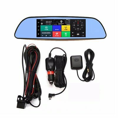 New High Definition 7inch Car DVR Rearview Mirror Dash Camera GPS navigation OB1