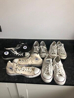 Job Lot of 5 Pairs Mens Converse All Star Shoes VGC   Size 12