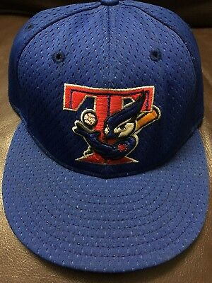 8C VTG Rare Toronto Blue Jays New Era Fitted Hat Jersey Style MLB Cap Made In US