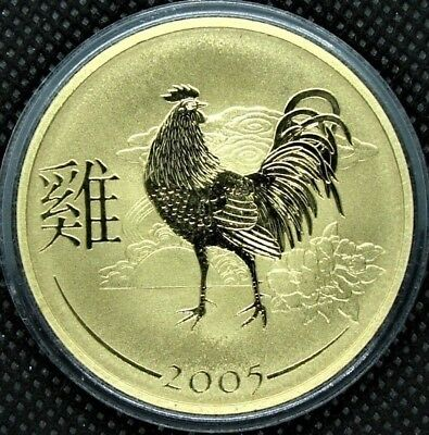 2005 Australia/Xmas Island Lunar Year Rooster pnc - Golden - Know a Rooster?