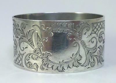 Antique hallmarked Sterling Silver Napkin Ring (not inscribed) – 1901