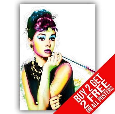 Audrey Hepburn Breakfast At Tiffanys Poster Print A4 / A3 - Buy 2 Get Any 2 Free