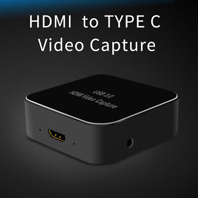 HDMI to Type-C Video Capture USB HD 1080P Card Box Drive for PS4 Portable U2X5A