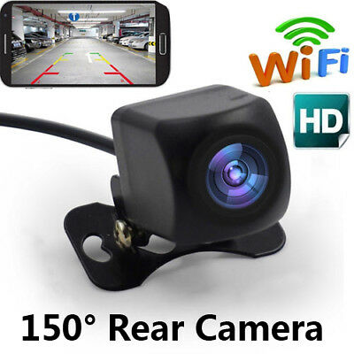 150°WiFi Car Rear View Cam Backup Reverse Camera For iPhone Android ios E2H6O