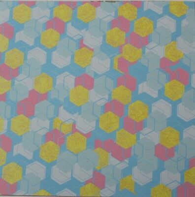 """2 Sheets Of Craft 6""""x 6"""" Scrapbooking Or Card Making Paper Colourful Hexagons"""