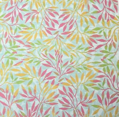 """2 Sheets Of Craft 6""""x 6"""" Scrapbooking Or Card Making Paper Colourful Leaves"""