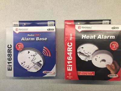 heat alarm detector / plus radio alarm link base. ei168rc ei164rc