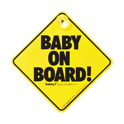 Safety Baby on Board Suction Cups Windscreen Window Body Panel Car Sign