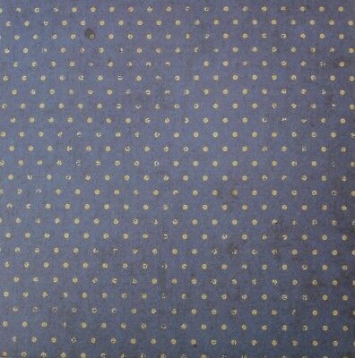 """2 Sheets Of Craft 6""""x 6"""" Scrapbooking Or Card Making Paper Blue Polka Dots"""