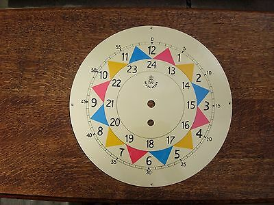 "Raf sector clock dial face fusee clock 10"" HAND PAINTED SOLID 2 MM STEEL NOT TIN"