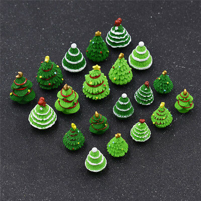 Christmas Tree Miniature Figurine Green Different Styles Decoration Home Kids 5x