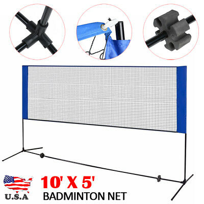 Badminton Tennis Training Net Portable Outdoor Sports Beach 10x5 Inch Heavy Duty