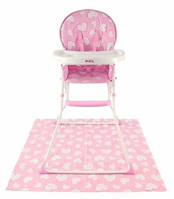 New Folding Baby High Chair Red Kite Compact Feeding Highchair Pink Pretty Kitty