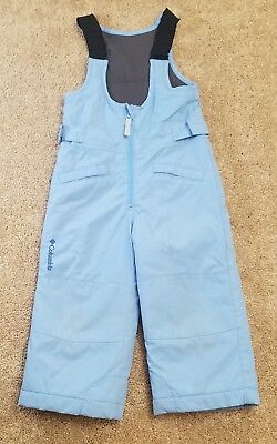 Columbia Toddler 3T Snow Pants Unisex Boy Girl Teapot Blue