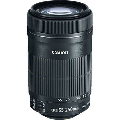 Canon EF-S 55-250mm f/4-5.6 IS STM Lente (Caja Blaca)