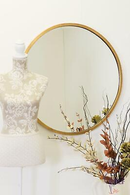 Large Gold Round Bevelled Wall Mirror 80cm x 80cm