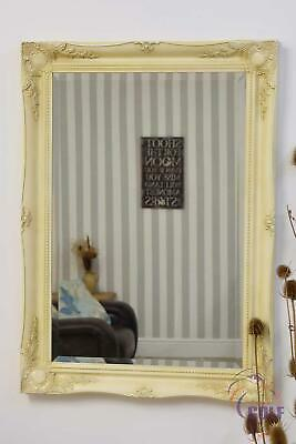 Large Cream Antique Style Ornate Ivory Wall Mirror3Ft X 2Ft2 91cm X 66cm