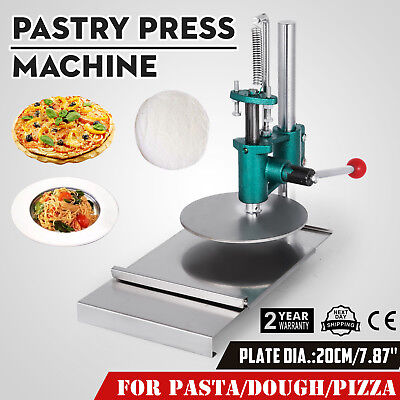 7.8inch Manual Pastry Press Machine Puff Pastry Pizza Crust Chapati Sheet 20CM