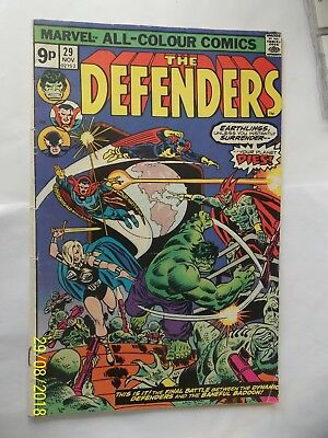 Marvals Comic The Defenders 1975 Good Condition