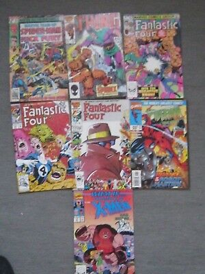Job lot of 7 Marvel Comics (Fantastic Four/Thing/Spiderman/What If)