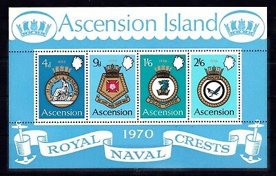 ASCENSION #134-137a MNH COATS OF ARMS OF ROYAL NAVAL SHIPS