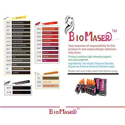Professional Tattoo Ink Pigmento Makeup Pigments For Eyebrow Eyeliner Lip - 1pcs