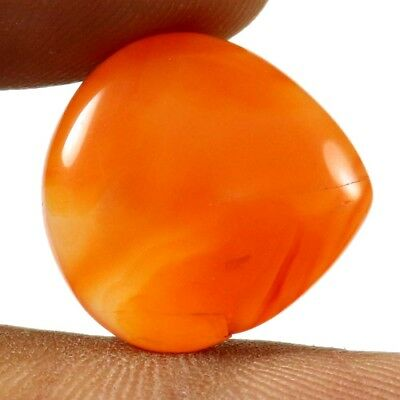13.90 cts 100% Natural Carnelian Top Quality Gemstone Heart Shape Loose Cabochon