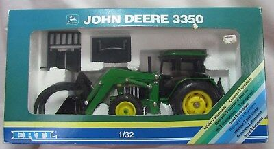 ERTL # 5647 John Deere 3350 Tractor with Loader, 1/32 Scale, NIB, 1991