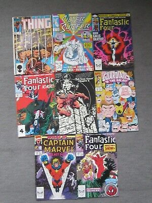Job lot of 8 Marvel Comics (Fantastic Four/Daredevil/Surfer/Thing/What if)